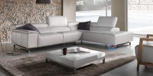 Canapé d'angle design cuir